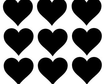 50 hearts - Decal stickers - Heart stickers