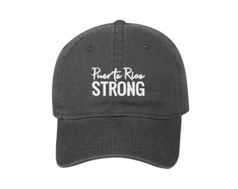 Puerto Rico Strong - Baseball Hats - Support Hurricane Maria Relief Efforts, Donate to Puerto Rico, #puertoricostrong, Embroidered Hat