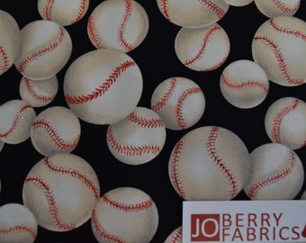 Baseballs by Blank Quilting.  Quilt or Craft Fabric, Fabric by the Yard.