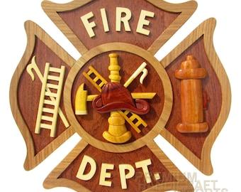 """12"""" Handcrafted Wooden Emblem WE16288"""