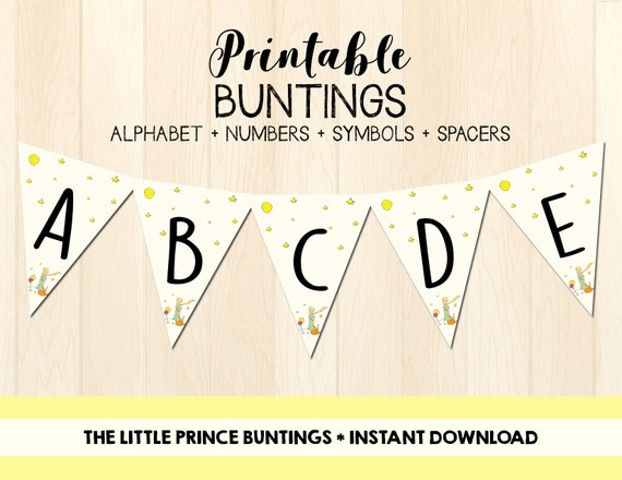 Le Petit Prince Buntings The Little Prince Banner