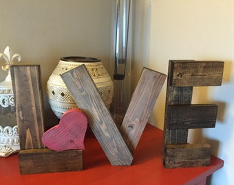 LOVE reclaimed wood letters