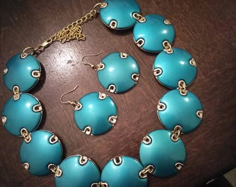 Turquoise Choker Set
