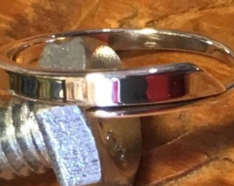 Sterling silver one of a kind wraparound rings size 6 1/2