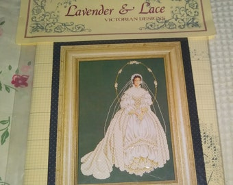 New Listing - Lavender and Lace - I Thee Wed- L & L 29 - Chart and  Design Only - 10 5/8 x 15 1/3