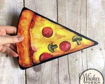 Summertime Props - Plastic Photo Booth Signs - pepperoni and mushroom pizza