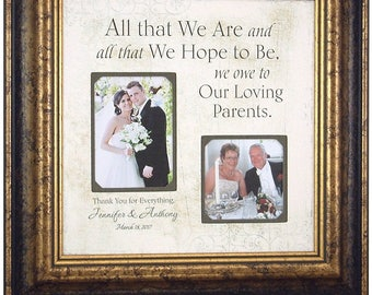 Parents Wedding Gift, All That We Are, Wedding Gift for Parents, Gift for Parents of the Bride, 16x16