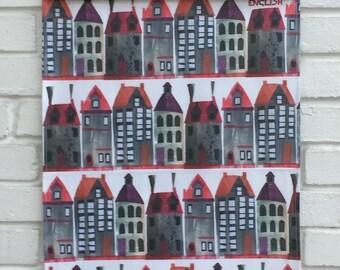 Town Houses Tea towel