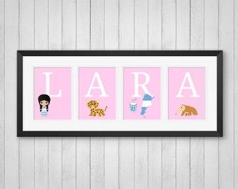 Argentina Wall Art - Personalized Name Print - Travel Art - Boy or Girl Room Decor - Argentina Decor - Nursery Art - Individual 4x6 5x7 8x10