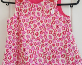 Deep Pink Flower Girls Pinafore Dress Age 6 months
