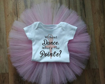 Ballerina dance theme shirt and tutu