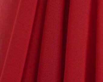 Knee Length Chiffon Ballet Skirt in Ruby (Pull Up)