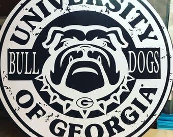 Georgia Bulldogs Wall Decor/ Mancave sign