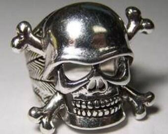 Skull and Cross Bones Ring Large
