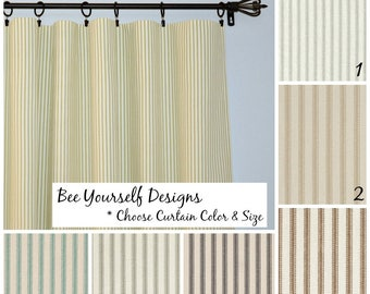 More Colors Ticking Cafe Curtains