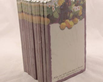 New/Old Stock. 12 Sealed Packages of (Primroses and Lemons) Memo Pads. 3228