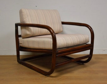 Bamboo and Brass Lounge Chair