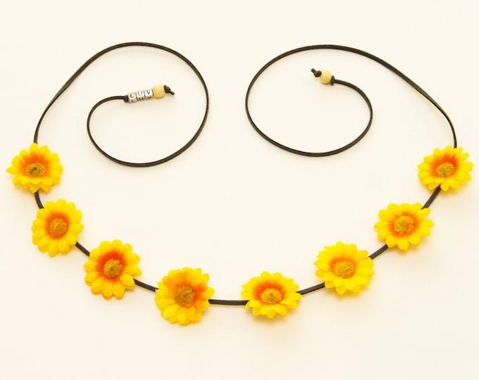 Yellow Daisy Flower Crown