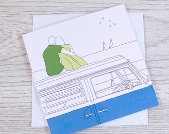 Campervan card 'Room with a view'