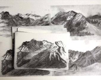 Close to a Mountain (postcard series)