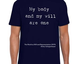 Schopenhauer Philosophy art t-shirt