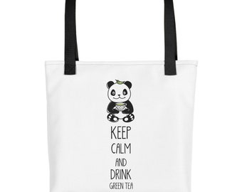 Panda Bag Mindfulness/Gift/Yoga/Cute/Green Tea/Women/Birthday/Bear/Zen/For Her/Mom/Tote