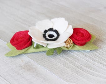 Flower Headband / Anemone Felt Flower Crown / Felt Flower Headband / Felt Anemone Headband / Flower Crown / Baby Headband / Headbands