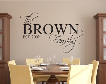 Family Name Wall Decal - Custom Family Wall Decal - Living Room Decor - Family Established Year Decal - Home Decor Vinyl Wall Decal & Having somewhere to go is a Home Wall Decal Quote Family