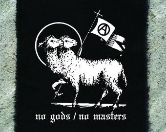 No gods / no masters patch • punk patch • back patches • protest patch • punk aufnäher • religious • punk accessories • sew on patches