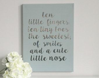 Nursery Wall art - Home decor - Nursery Decor -  Girl's nursery art -  Boy's nursery art - Baby shower gift - first birthday gift