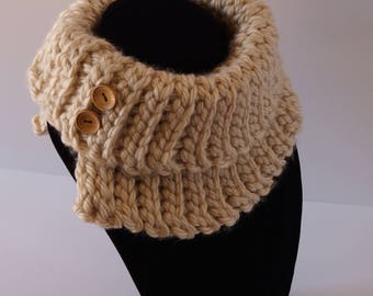 Crochet Cowl, Winter Scarf, Winter Cowl, Warm Cowl, Warm Scarf, Infinity Scarf, Cowl Neck, Cowl Neck Scarf, Button Cowl, Knitted Cowl,