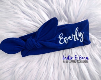 Custom baby gifts etsy personalized baby headband name baby headband personalized name bow custom baby gift negle Image collections