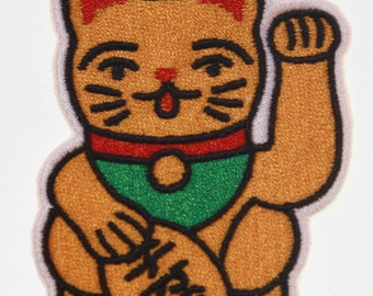 Patches embroidered patch iron on Termoadevisa cat of Fortune, Maneki Neko