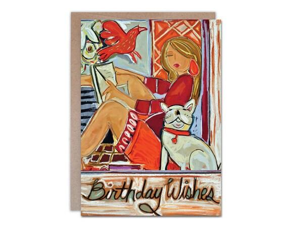 Birthday Wishes, 5 x 7 greeting card