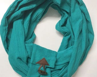 Scarf infinity teal