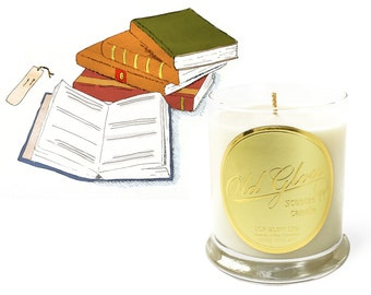 Antique Bookshop - Handcrafted Old Glow Candle