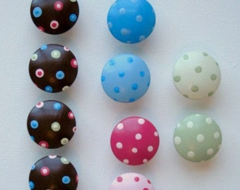 Polka Dot Knobs, Drawer Pulls, Nail Covers