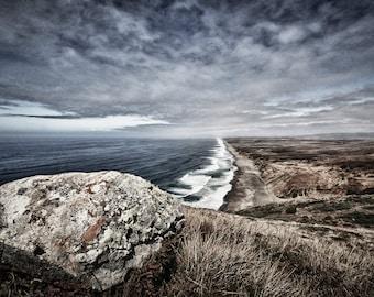 Fotografía de paisaje - Boulder Point Reyes, California - 8 x 12