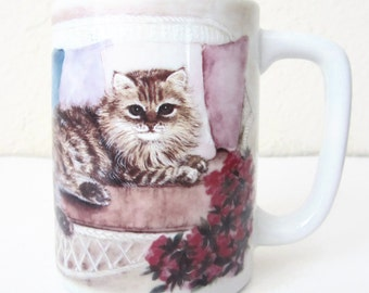 OTAGIRI Mug Long Haired Cat JACQUIE VAUX made in Japan