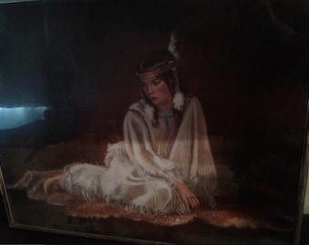 Vintage Native American Print/Indian Princess