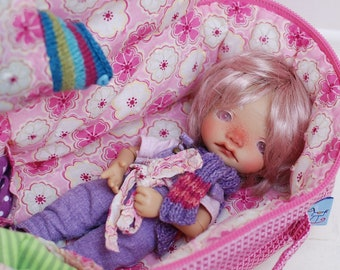 Travel Bag Sleeping Protective Doll Case Irrealdoll Lati Yellow Pukiefee Handcrafted For Dolls Handmade 1/6 Bjd Pink Flowers
