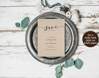 Save the Date Printable Template, DIY Save the Date, Wedding Template, Printable Save Date, Invitation Template, Template PDF, Wedding, 6095