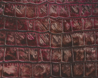 Coupon of marbled pink cowhide leather