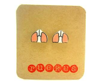 Lungs Stud Earrings, Anatomy Earrings, Anatomy Jewelry, Human Lungs, Biology Earrings, Biology Jewelry, Geekery Jewelry, Science Jewelry