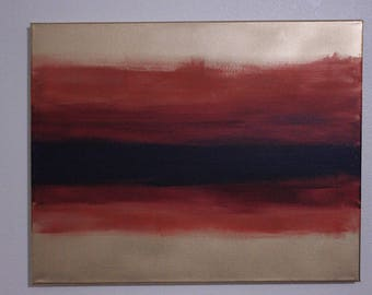 Royal Stripe Abstract Painting ~ East to West Gallery ~ Amateur Artwork