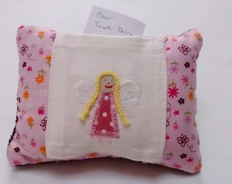 Tooth Fairy Cushion / Pillow with Fairy on Pocket