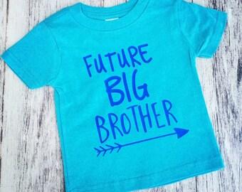 Future big brother shirt, pregnancy announcement shirt, soon to be big brother shirt, new baby announcement, promoted to big brother shirt