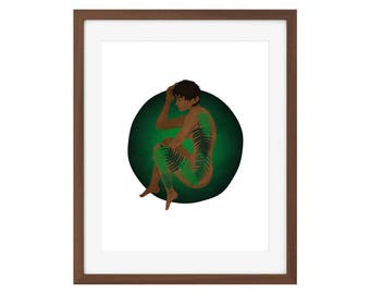 Casca in Ferns - botanical Berserk print