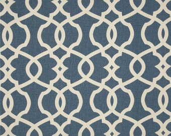 Emory Yacht cotton fabric by the yard lattice Magnolia Home Fashions