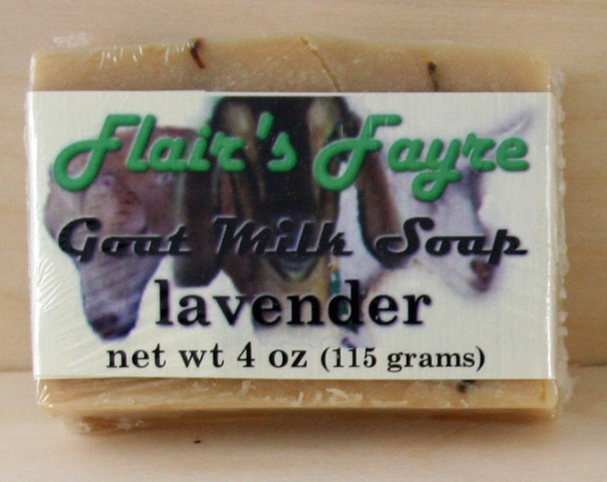 Featured listing image: lavender goat milk soap